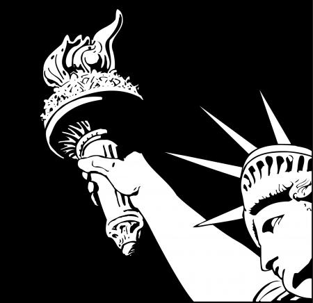 Statue of liberty fragment illustration