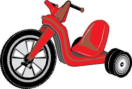 driewieler: kinderen driewieler Stock Illustratie