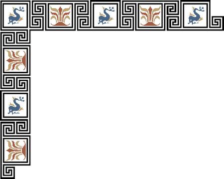 celtic oriental border  Ilustração