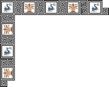 celtic oriental border  Illustration