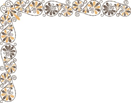 border oriental  pattern Imagens - 24384640