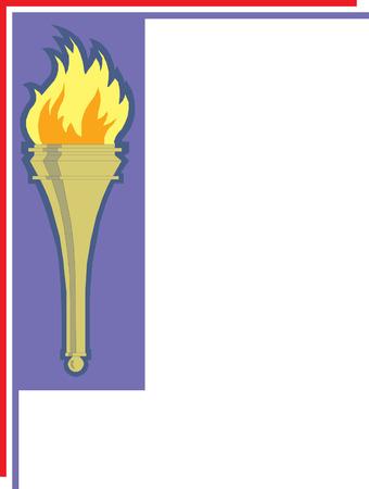 Iconic torch illustration Imagens - 24384649