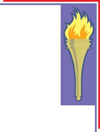 Iconic torch illustration Imagens - 24384648