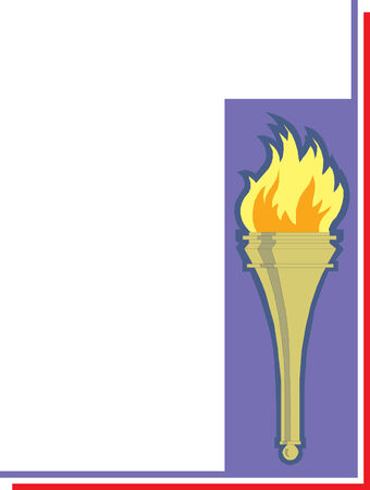 Iconic torch illustration  Ilustração