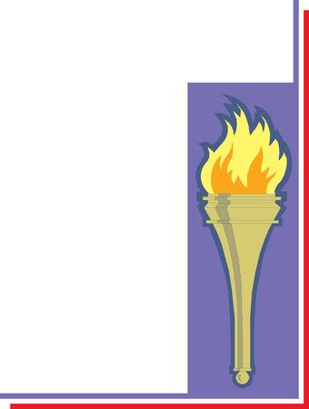 Iconic torch illustration Imagens - 24384651