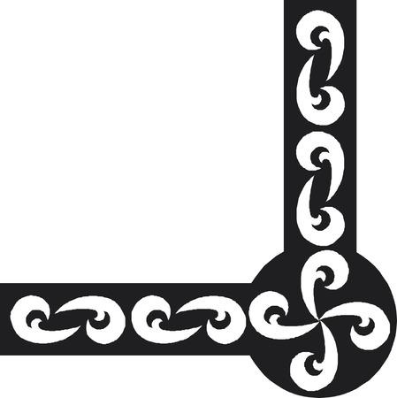border oriental  pattern Imagens - 24384744
