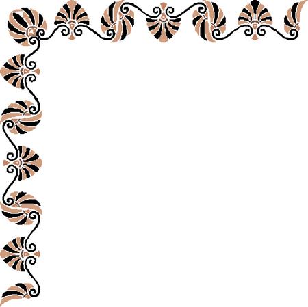 border oriental  pattern Imagens - 24384749