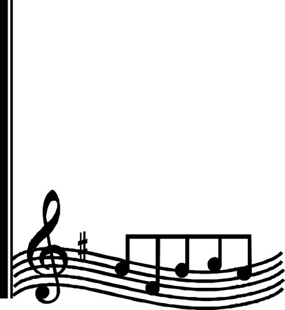 Corners Musical notes   Illustration