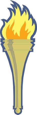 illustration of torch  Ilustração
