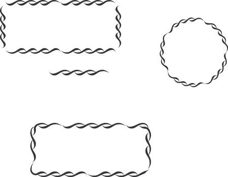 ornamental borders-Set of lace elements Vector