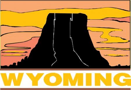 Wyoming USA State Imagens - 24119528