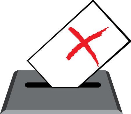 ballot paper: ballot voting box symbol
