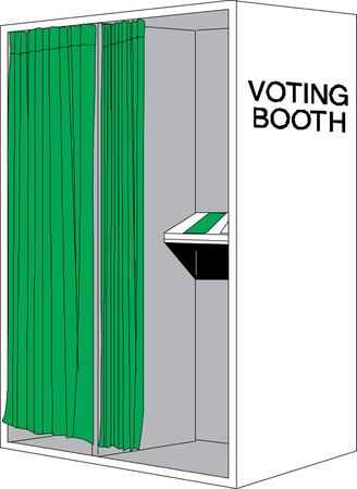 polling station: ballot voting box symbol