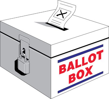 ballot voting box symbol