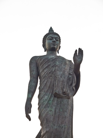 nakhon pathom: Big Buddha at Phutthamonthon district, Nakhon Pathom Province of Thailand Stock Photo