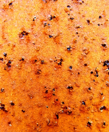 the rust texture on the metal photo