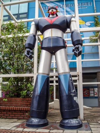 Big Model Great Mazinga in front of Seoul Cartoon museum and Animation Center in Seoul, South Korea