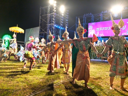Thai classic masked play enacting scenes from the Ramayana Editorial