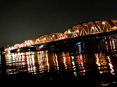 krung: Krung Thon Bridge at Bangkok in Thailand
