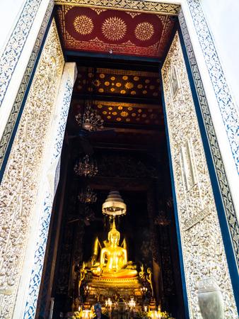 wat bowon: principle Buddha image in a Wat Bowon Niwet Buddhist temple
