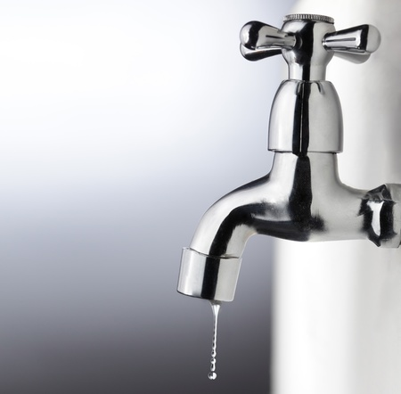 metal tap with water drop Stock Photo - 9308383