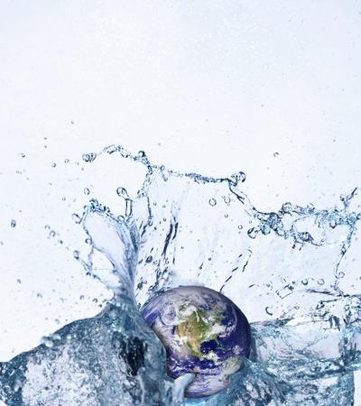 erth in water splash photo