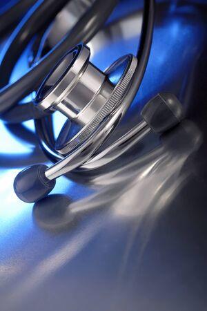 stethoscope on metall deck photo