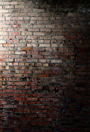 brick red: brick wall Stock Photo