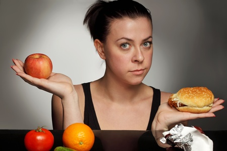 diet concept fat or healthy Stock Photo - 9605965