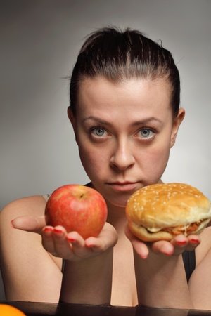 diet concept fat or healthy Stock Photo - 9605964