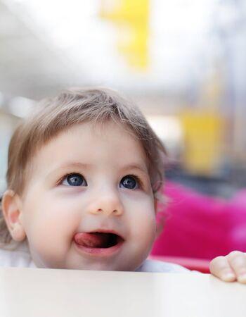 baby show tongue Stock Photo - 9775913