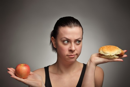 diet concept fat or healthy Stock Photo - 9776154