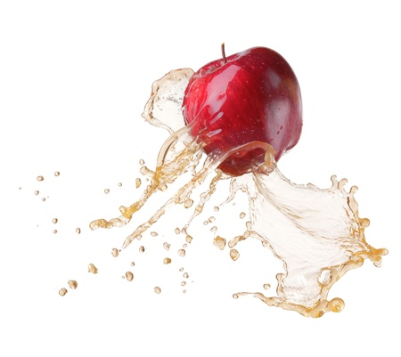 red apple in splash Stock Photo - 9774128