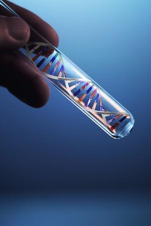retort: dna molecule in test tube
