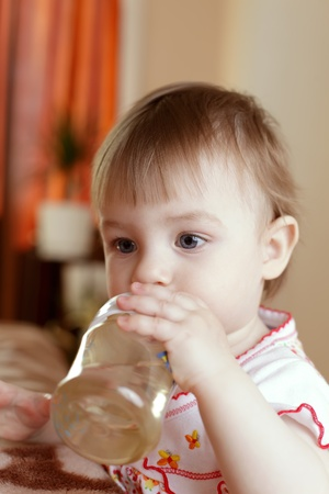 baby with bottle photo