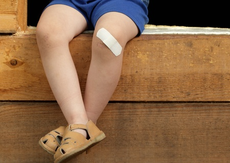 heal care: boy feet