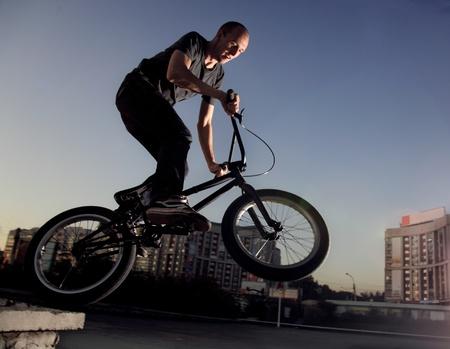 boy on bmx bike photo