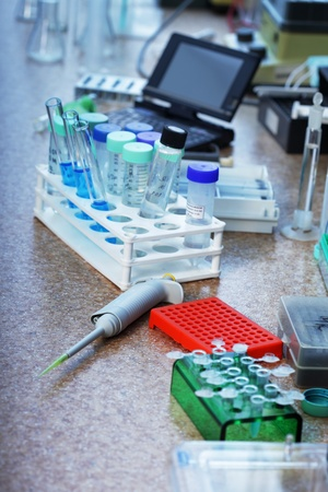 eppendorf: test tubes and dropper Stock Photo