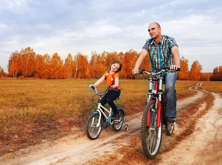 family on bike photo