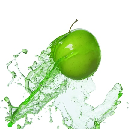 splash: manzana en la corriente