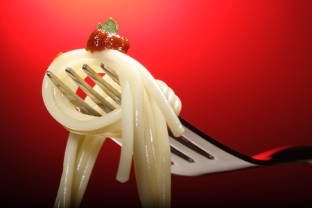 fettuccine: pasta Stock Photo