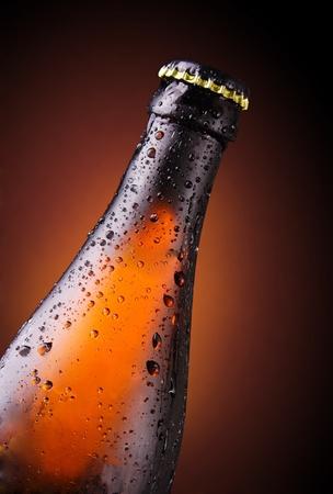 condensación: botella de cerveza