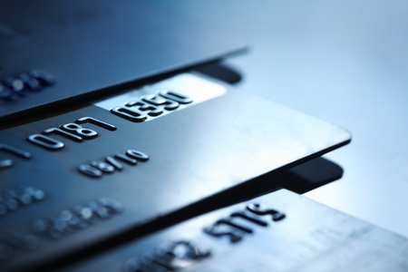credit card debt: card Stock Photo