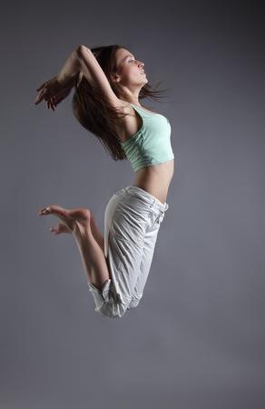 hip hop girl: beauty girl dance Stock Photo