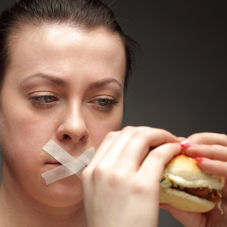 banned: diet concept in low key Stock Photo