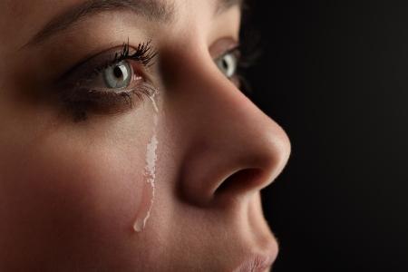 tårar: skönhet flicka gråta Stockfoto