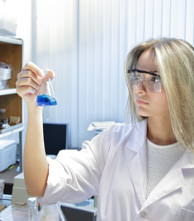 beauty scientist in chemical laboratory Stock Photo - 12928193