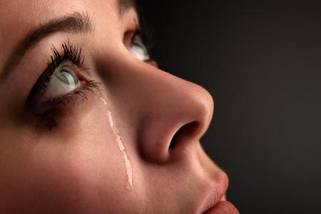 fille pleure: cri fille de beaut�