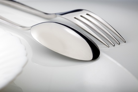 spoon and fork: silverware