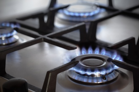 gas burner: stove Stock Photo